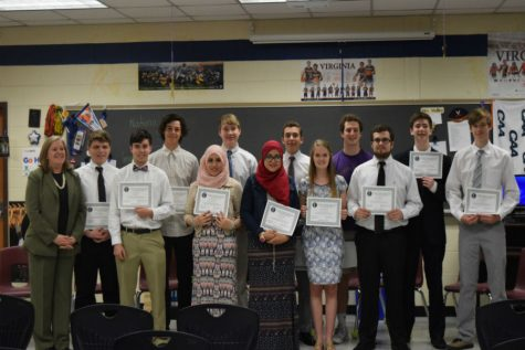 National Business Honor Society Inductees Honored