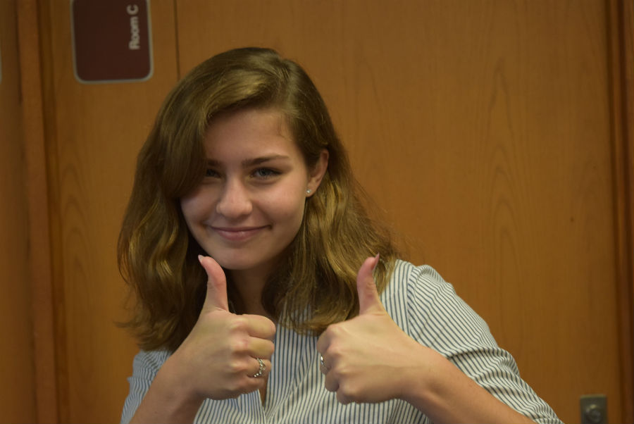 Beth Lasch ready to take on the year with Model UN.