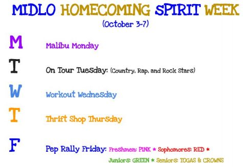 Midlo Homecoming Spirit Week!