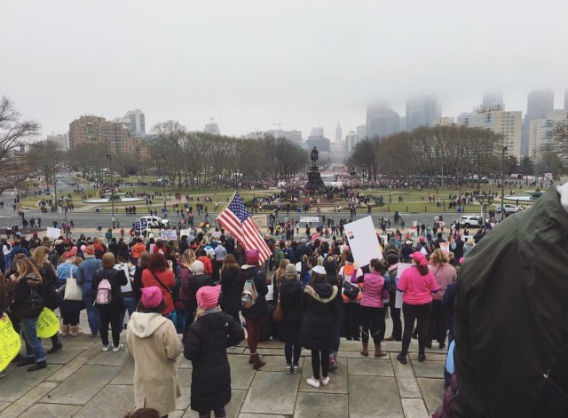 Women%27s+March+2017%2F+Activists+gather+outside+in+Philadelphia%2C+PA%2C+to+march+on+Saturday%2C+January%2C+21%2C+2017.