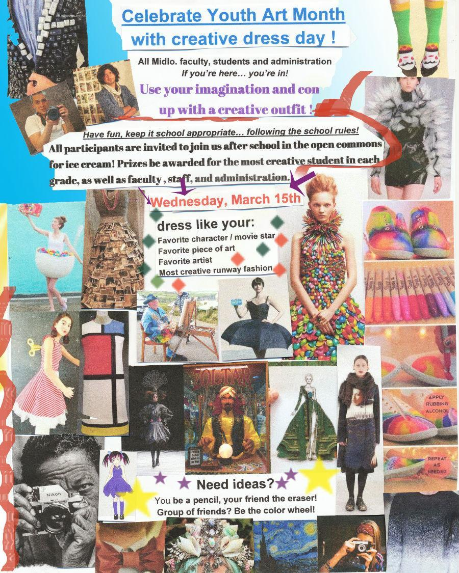 Youth Art Month Creative Dress Day Flyer