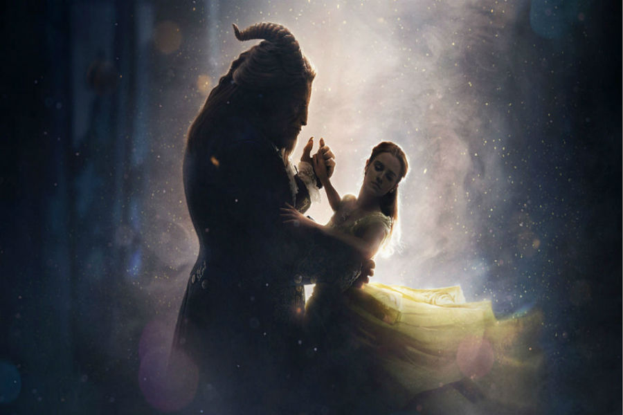 Beauty and the beast waltz in the candle lit ball room.