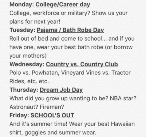 Senior Spirit Week!!