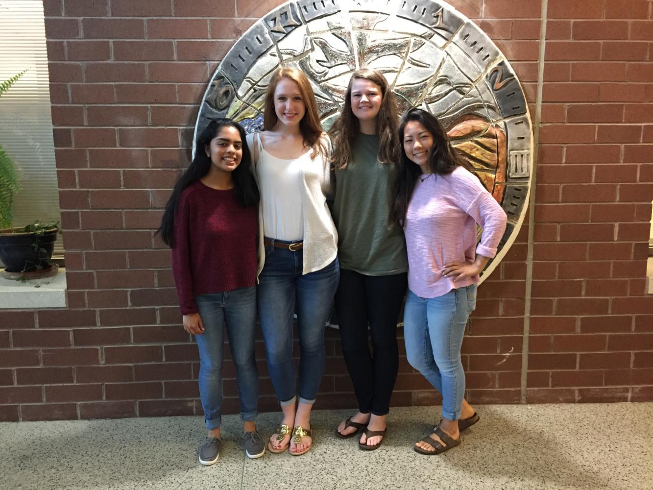 2017 Girls State participants: Joitree Alam, Brooke Bailey, Sarah Harkness, Joy Li