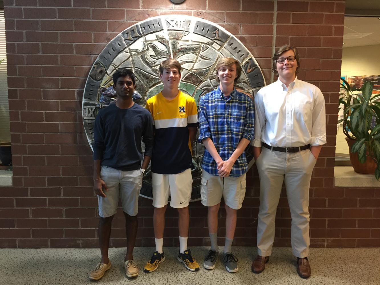 Virginia Boys State Delegates: Left to right:  Sai Poluri, Finlay Raphael, Andrew Baldacci, Ben Sultzer  (Not pictured:  Jinwoo Kim)