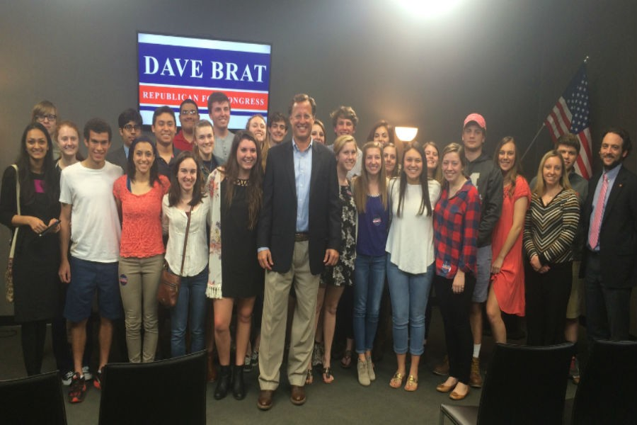 Congressman+Dave+Brat+took+1+hour+out+of+his+busy+schedule+to+speak+to+Midlothian+government+students.