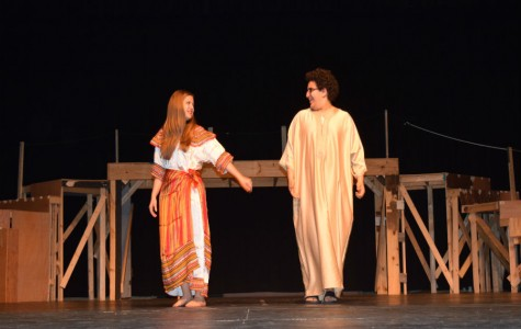 Bethany Burtch and Yusuf Goulmamine donned clothing native to Algerian culture in the fashion show.