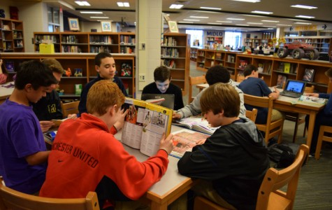 Students take advantage of an opportunity to read.
