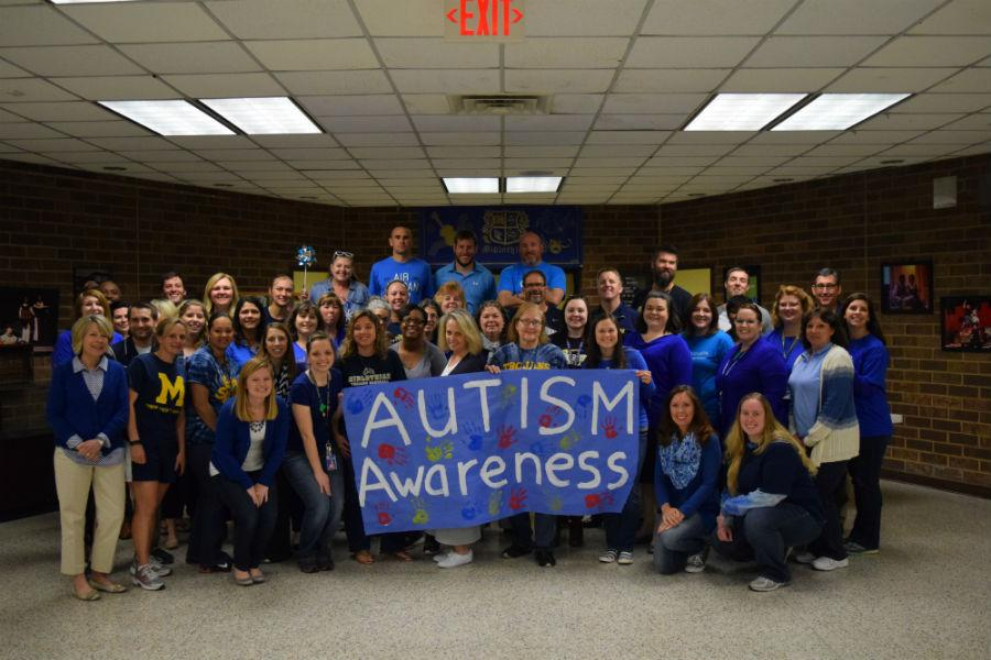 On Friday, April 15, members of the Midlo faculty wore blue to promote Autism Awareness.
