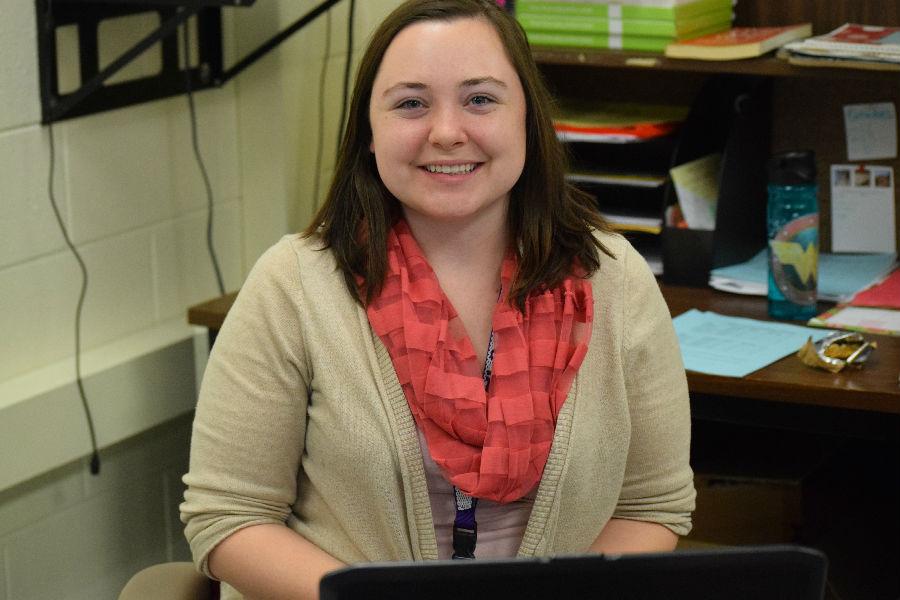 Ms. Rebman new to the Midlo Latin Department.