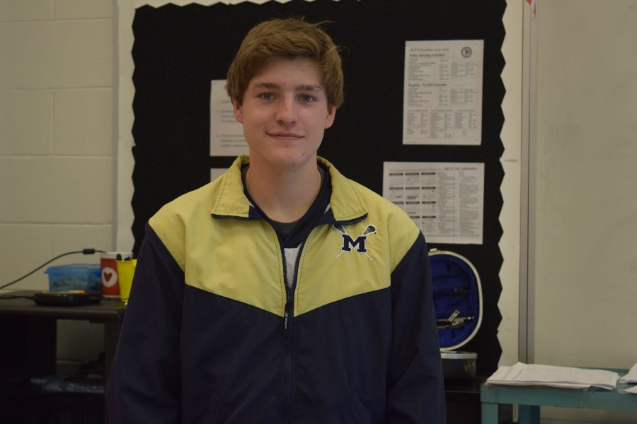 Evan Arents earned All-Virginia Band recognition.