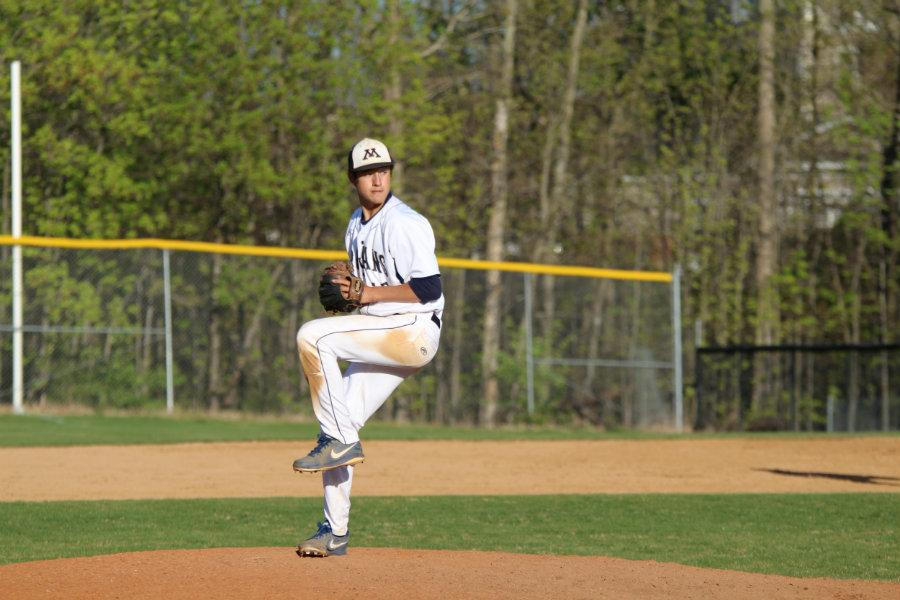 Picucci winds up for a pitch.