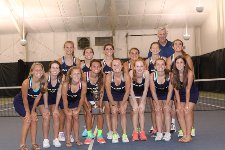 The+Midlo+girls+tennis+team+won+state+championships+last+year+and+hopes+to+achieve+the+same+feat+this+year+as+well.