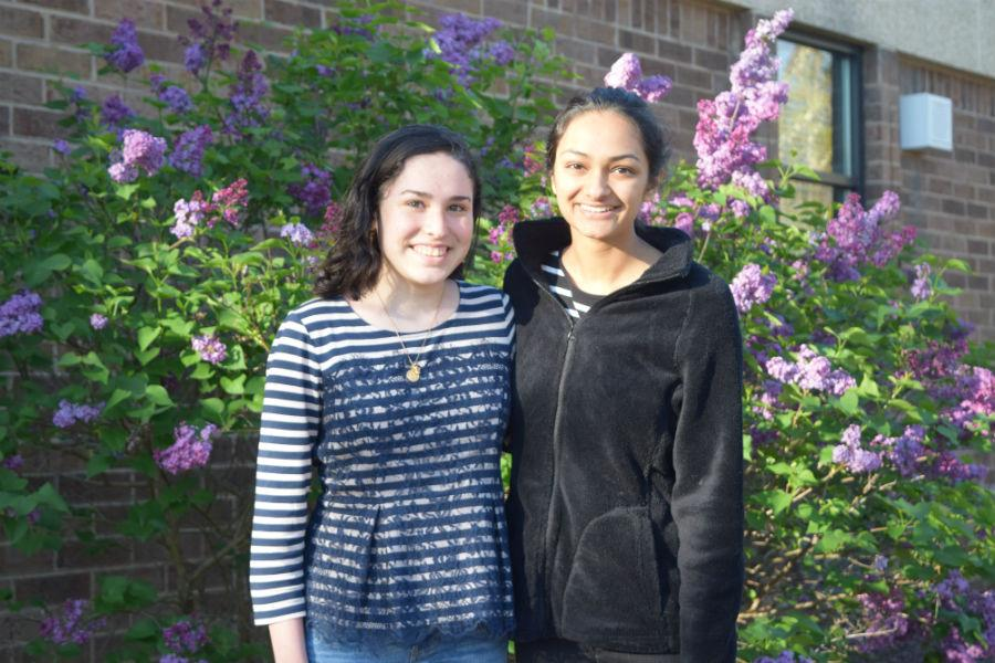 Students of the year, Bethany Crisp and Neha Kulkarni