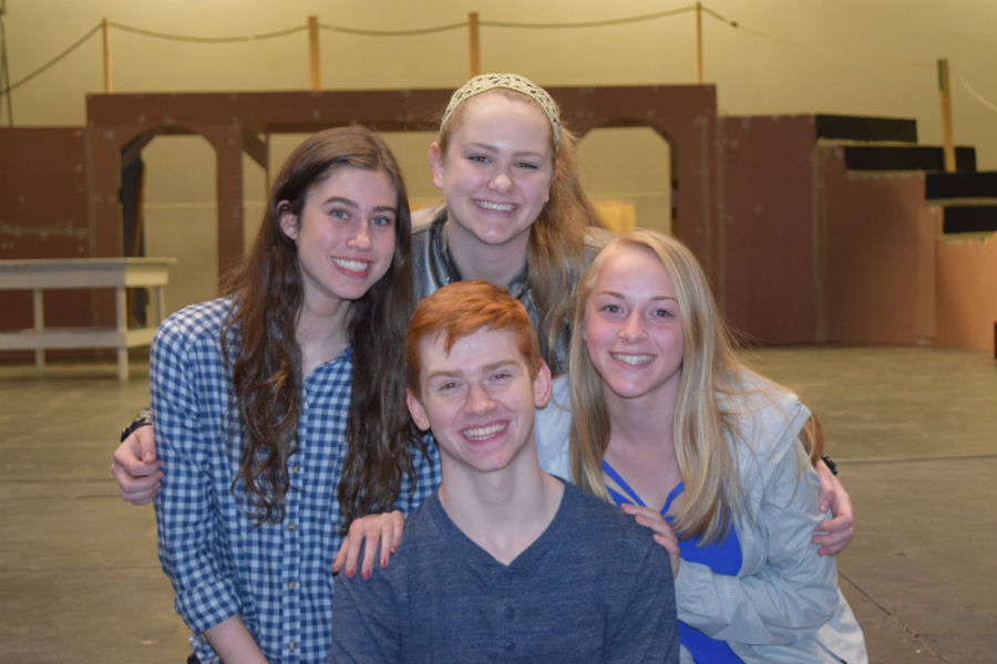 The directors for your 2016-17 theatre season: Sophia Trout, Mikaela Gray, Emily Peachee, and Sean Dudley.