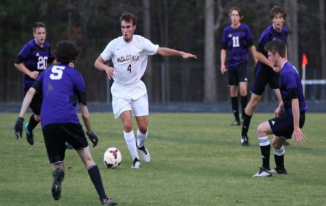 Connor Rea poises an attack against James River.