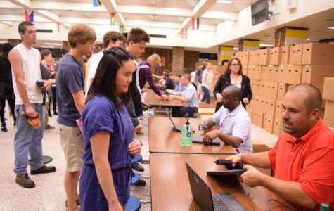 Midlothian High School students bid farewell to their Chromebooks for the summer.