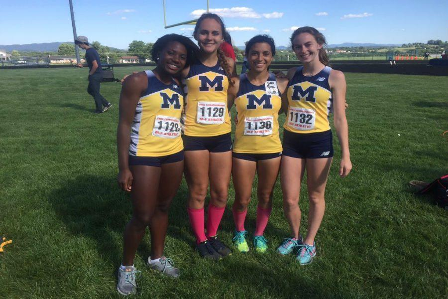 The+4+by+400+relay+team+claimed+first+place+at+the+4A+State+meet.+