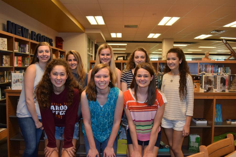 Members of NSHS celebrate their success.