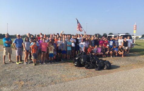 Midlo XC/Track Teams Clean Up