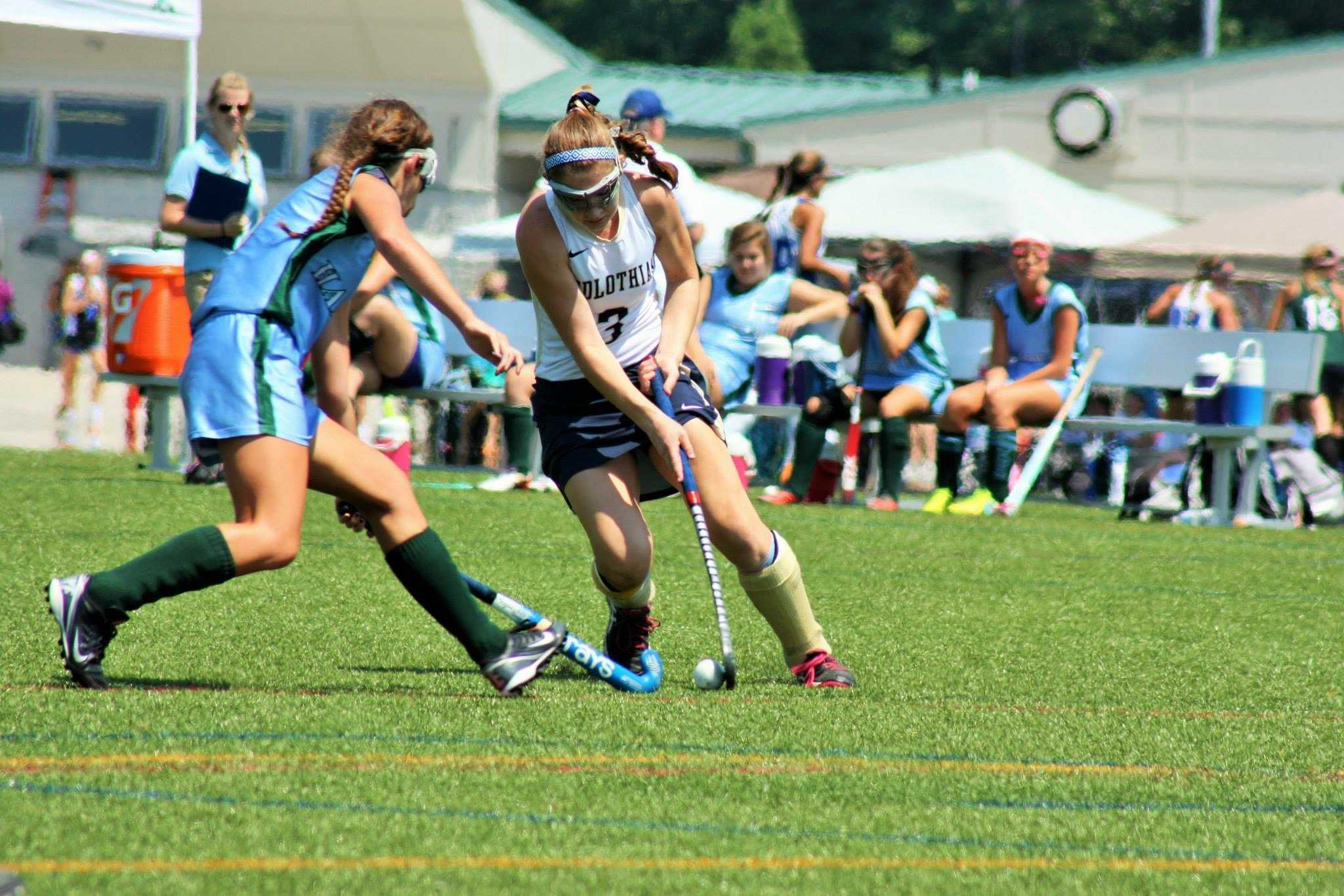 Nora Mulroy dodges her way around a defender, giving her free reign of the middle.