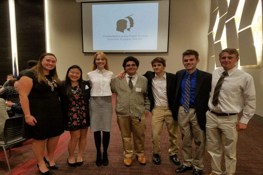Midlothian High School Model County Government Representatives are dressed for success to represent their school and fellow classmates.