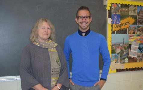 Frau Böer and Herr Tibbett represent the German department at Midlothian High School