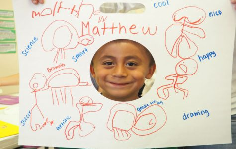 Matthew shows his getting to know me activity.