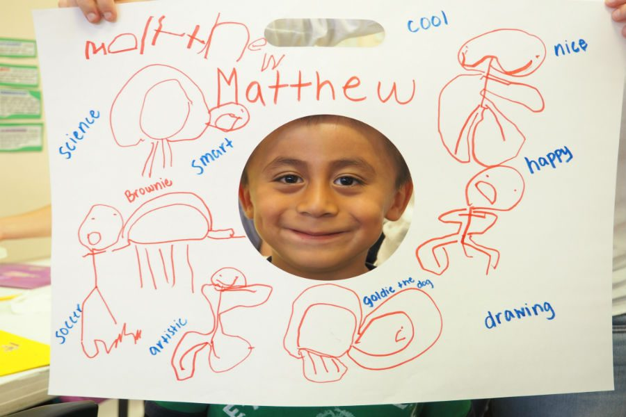 Matthew+shows+his+getting+to+know+me+activity.