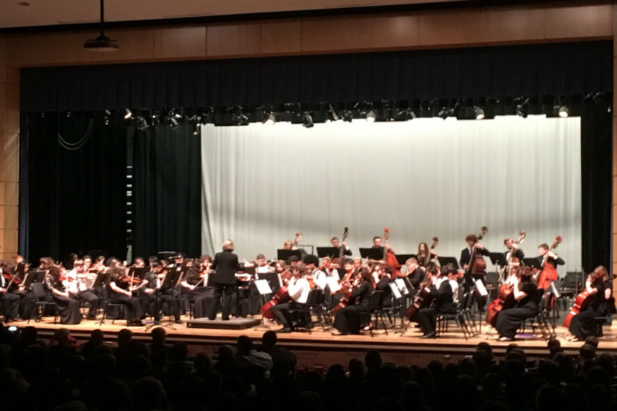 All County Orchestra play beautifully.