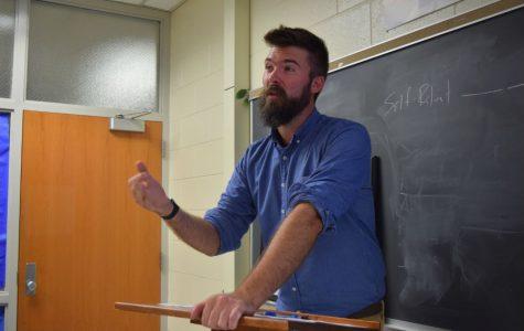 IB Coordinator, Mr. Mark Spewak, instructs his tenth grade students.