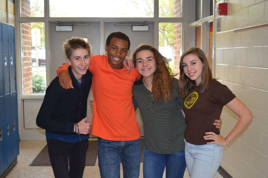 BJ Beckwith and Hannah Walker host French Exchange students Tim and Margaux.