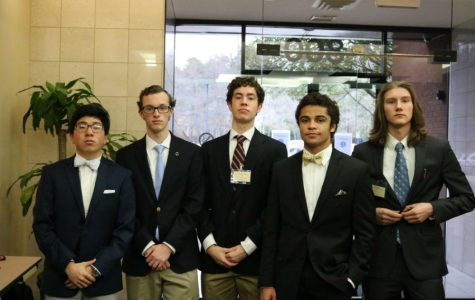 Midlo seniors: Aaron Hou, Thomas Jackson, Jay Gonzalez, Ivan Jackson, and Andy Hayes have been improving in DECA since they were freshmen, so they are excited to show the judges how much they've improved.