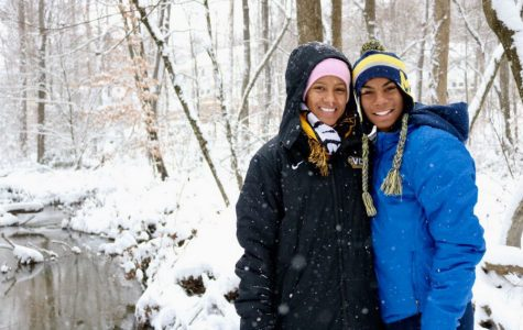 BJ Beckwith along with his sister, Britney, spent their snow days sledding in their front yard.