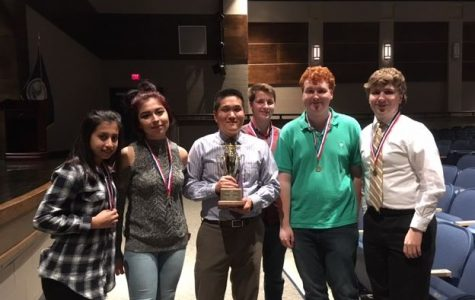 The Midlothian Scholastic Team celebrates a Conference 20 victory and prepare for Regionals.