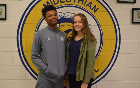 January students of the month: Rico Coleman and Bailey Blair