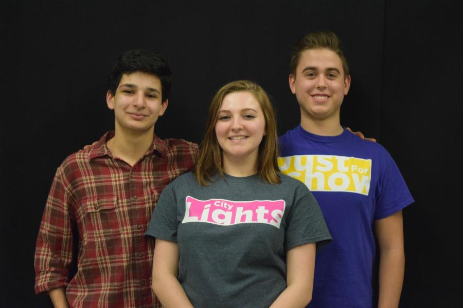 All-State Chorus Participants: John El-Jor, Andrea Taylor, and Gabe Fenyes (alternate)