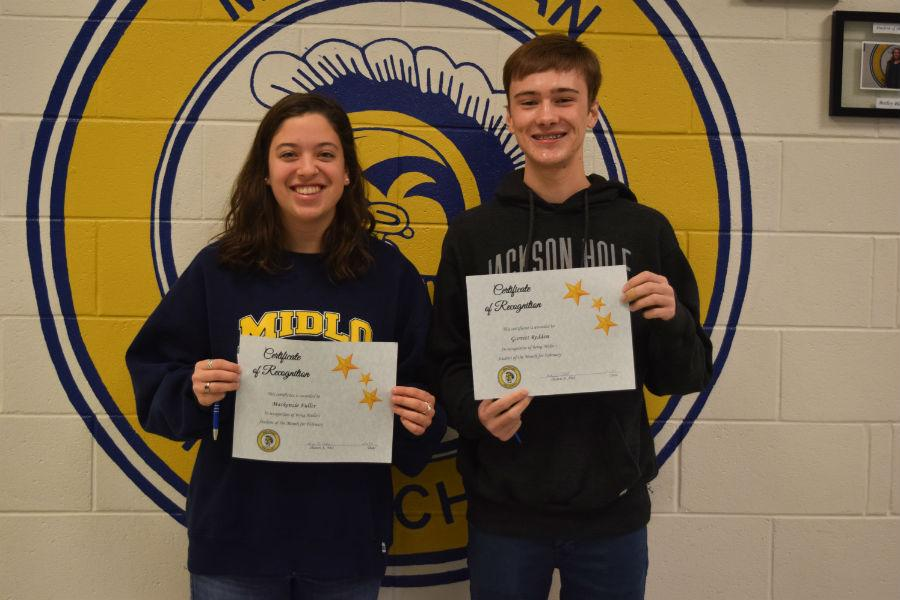 February Students of the Month -- Mackenzie Fuller and Garrett Redden.