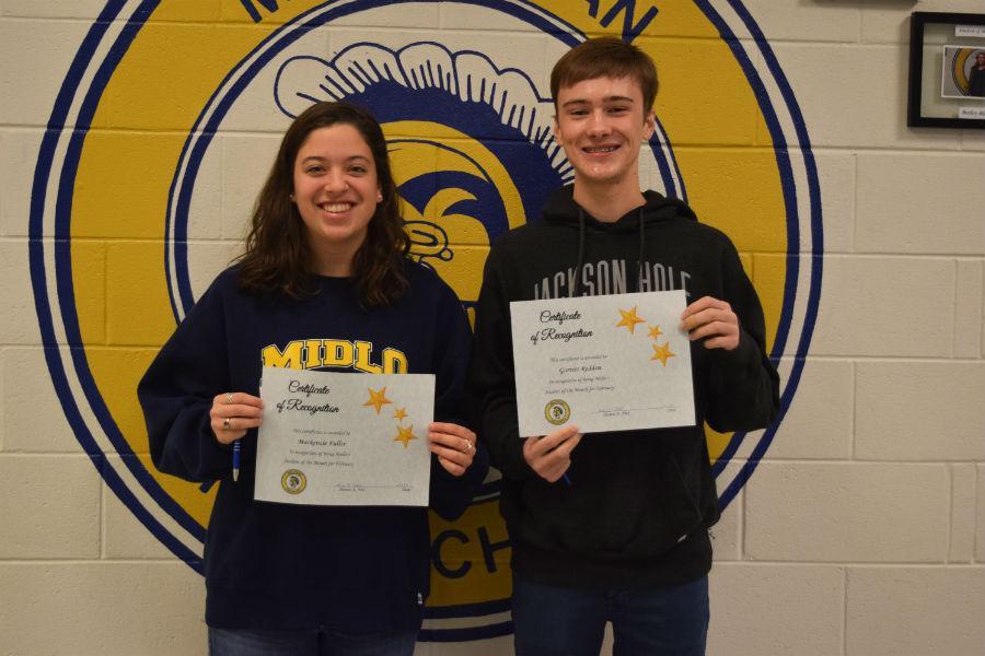 February Students of the Month -- Mackenzie Fuller and Garrett Redden.