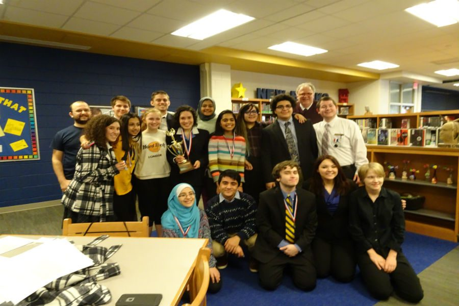 The Midlothian High School Forensics Speech Team valiantly wins the Conference 20 1st Place Team Trophy.