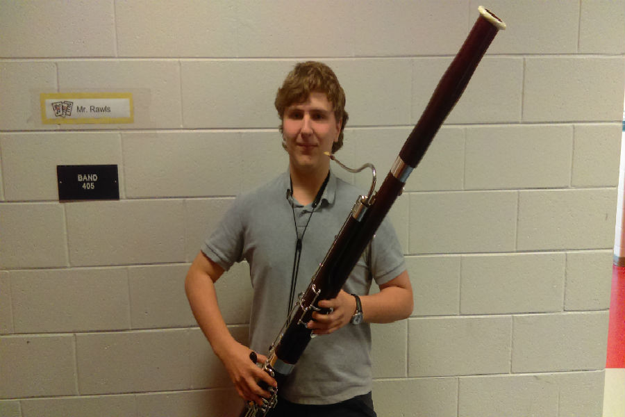 Matthew Tignor will represent Midlo at the All-Virginia Band and Orchestra event on April 6-8.