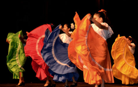 A traditional Mexican dance with flying skirts graced the International Festival stage.