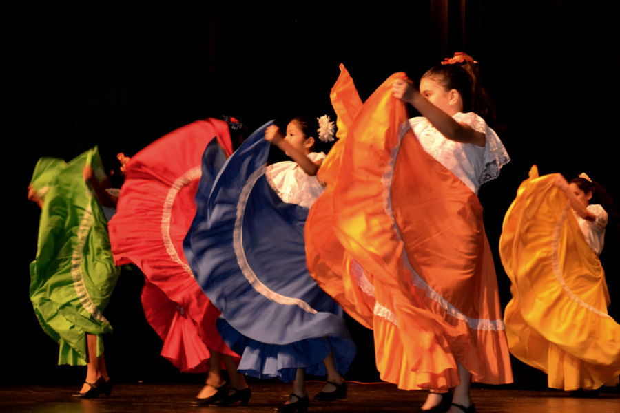 A+traditional+Mexican+dance+with+flying+skirts+graced+the+International+Festival+stage.