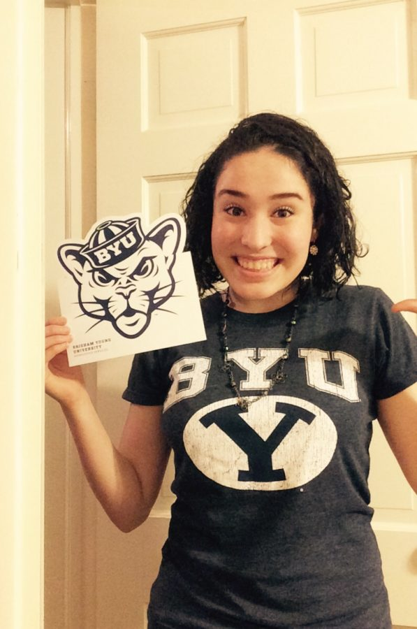 Bethany+Crisp+celebrates+her+admission+into+Brigham+Young+University-+Provo+and+joins+the+BYU+Cougar+Class+of+%2721.