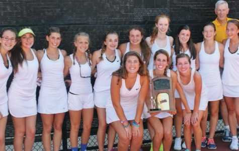 The 2015-2016 Girls Tennis Team at the State Competition