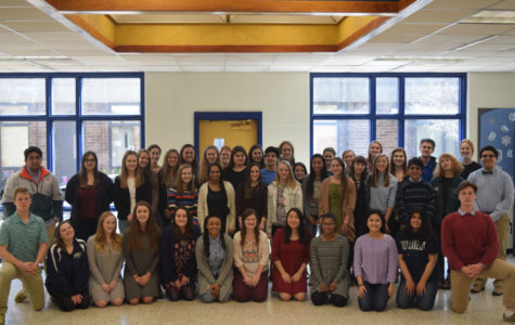 Midlothian High School National English Honor Society members gather to celebrate new inductees.