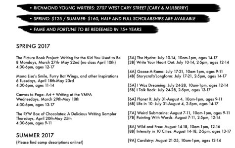 Richmond Young Writers Spring and Summer Institutes