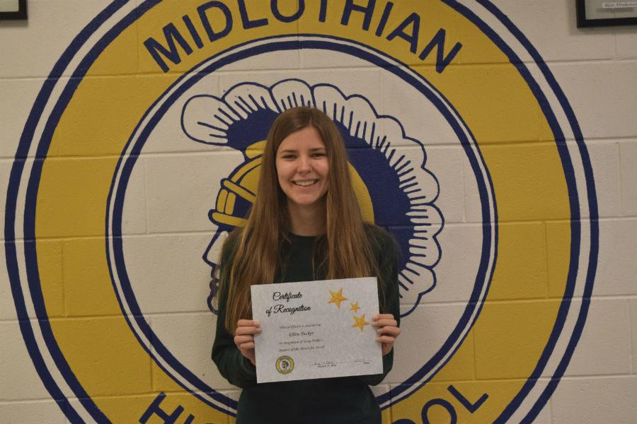 Ellen Tucker earned March Student of the Month.