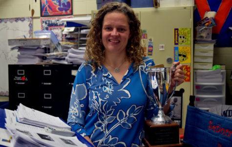 World Language teacher Sra. Travis Jimenez is the March recipient of the Teachers Recognizing Teachers award.