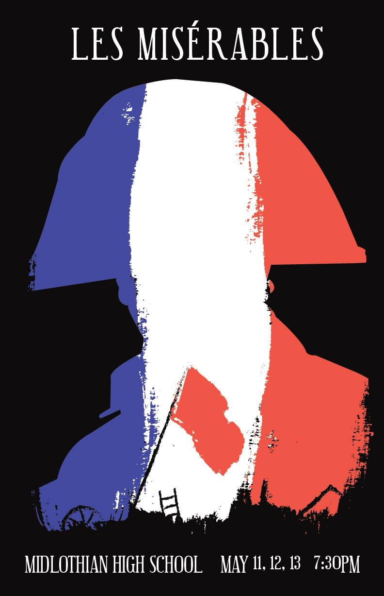 Midlo Theatre will perform Les Mis from May 11th - 13th at 7:30 pm.